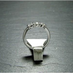 18ct White Gold Diamond Set Three Stone Ring