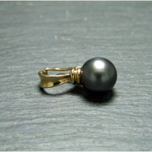 9ct Yellow Gold Pearl Clip Pendant