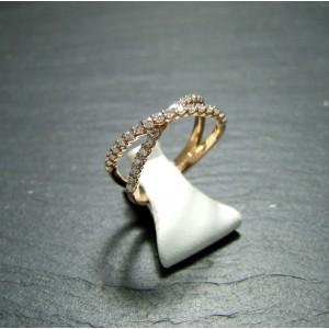 18ct Pink Gold Diamond Set Dress Ring