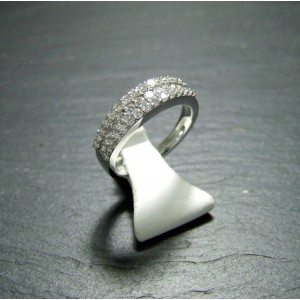 18ct White Gold Diamond Set Dress Ring