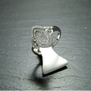 18ct White Gold Diamond Set Dress Ring