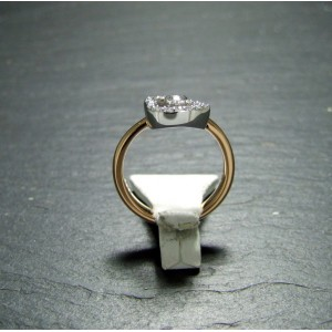 18ct Pink Gold Diamond Set Dress Ring