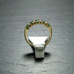 18ct Yelllow Gold Emerald and Diamond Eternity Ring