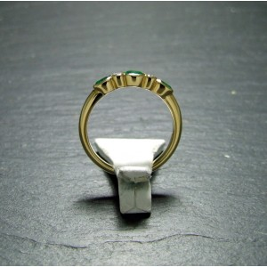 18ct Yelllow Gold Emerald and Diamond Eternity Ring
