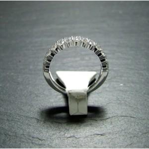 18ct White Gold Diamond Three Row Eternity Ring