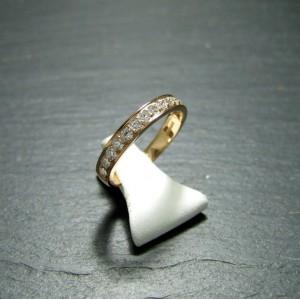 18ct Pink Gold Diamond Eternity Ring