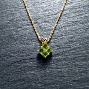 18ct Yellow Gold Peridot Pendant
