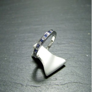 18ct White Gold Sapphire and Diamond Eternity Ring
