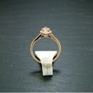 18ct Pink Gold Diamond Solitaire Ring