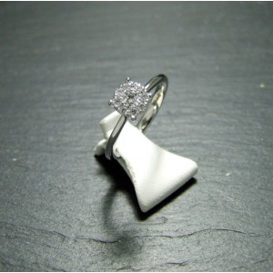 18ct White Gold Diamond Set Cluster Ring