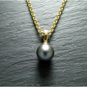 9ct Yellow Gold Tahitian Pearl Pendant