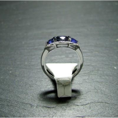 18ct White Gold Sapphire and Diamond Dress Ring