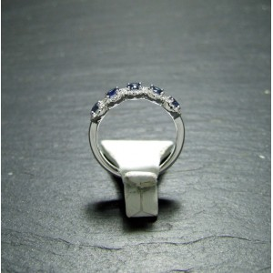 18ct White Gold Sapphire and Diamond Dress Ring
