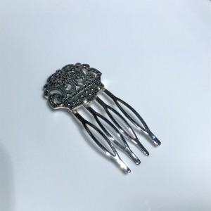 Silver Marcasite Set Hair Comb