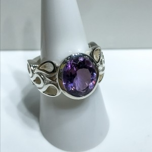 Silver Amethyst Dress Ring