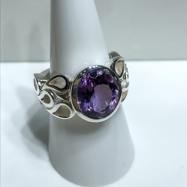 Silver Amethyst Dress Ring